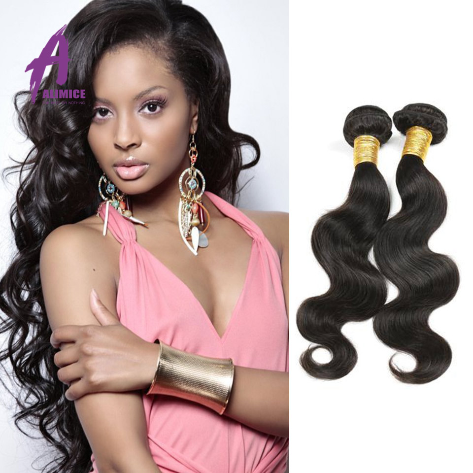 Unprocessed Hair Bundles Brazilian Body Wave Virgin Hair 8A Grade Weft Brazilian Hair Bundles, Natural black 1b;1#;1b;2#;4# avialbel