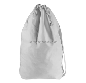 natural cotton canvas laundry bag for hotel