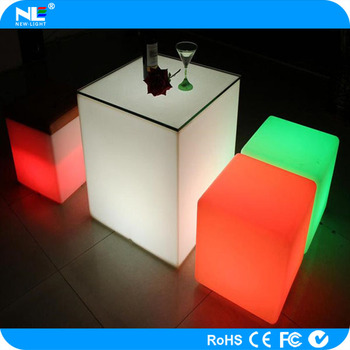 RGB Led Light Cube Seat/ Led Cube Chair /outdoor Led Cube Seat