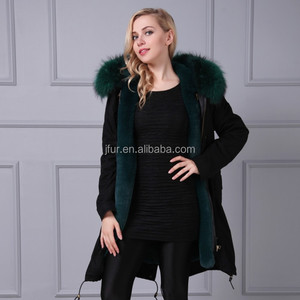 Most Famous fur parka with hooded, parka winter jacket padded faux fox fur