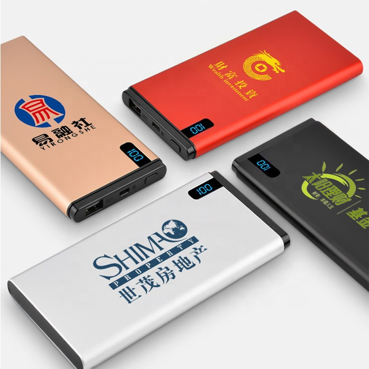 Custom oem logo 휴대용 mobile battery charger 8000 미리암페르하우어 와 lcd display