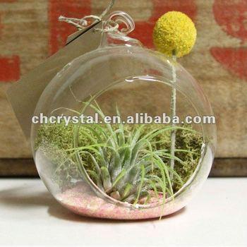 3 Cute Hanging Glass Air Terrarium Hand Blow Decor Glass Globe