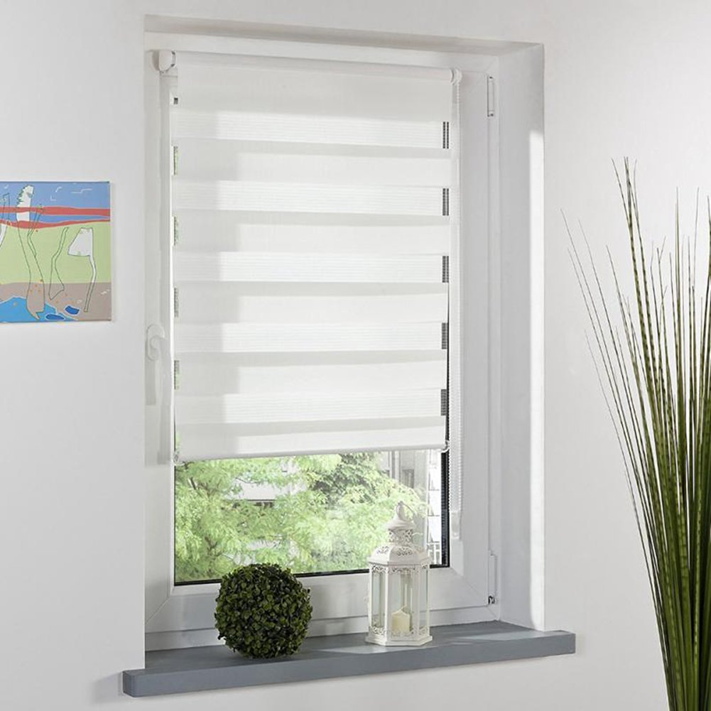 Buy Double Layer Adjustable Roller Blinds Curtains Window