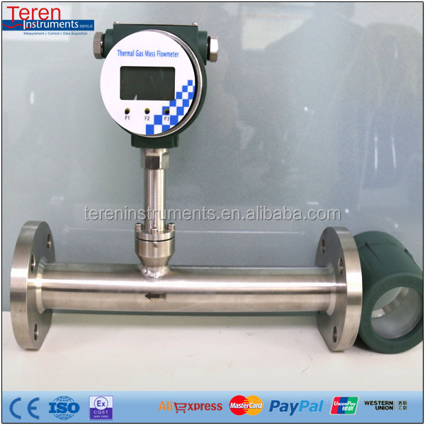 Integrated natural gas thermal gas mass flow meter