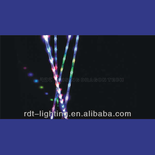 DMX 360 degree vertical RGB LED tube light