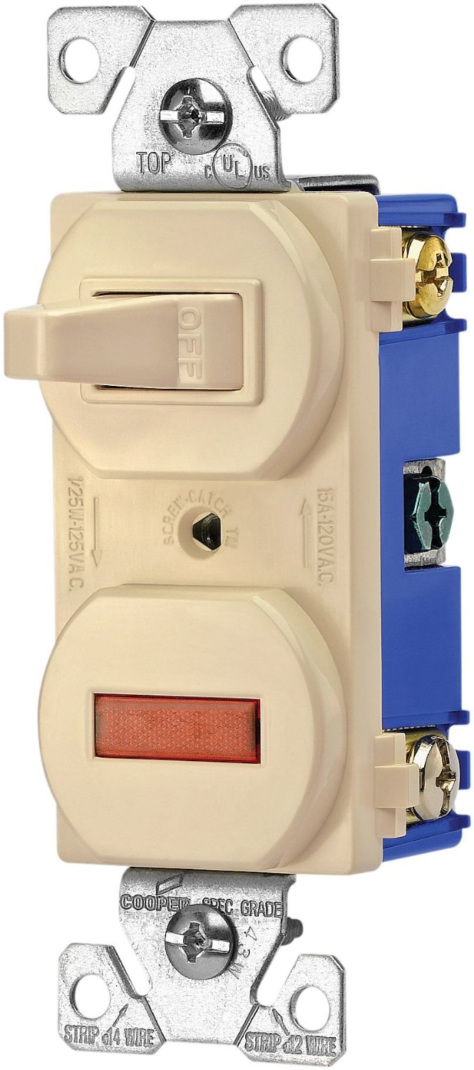 Cheap Single Pole Light Switch Wiring Find Get Quotations Eaton 277v 15 Amp 120 Volt Combination Toggle And Pilot