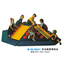 Children soft play game center indoor slide