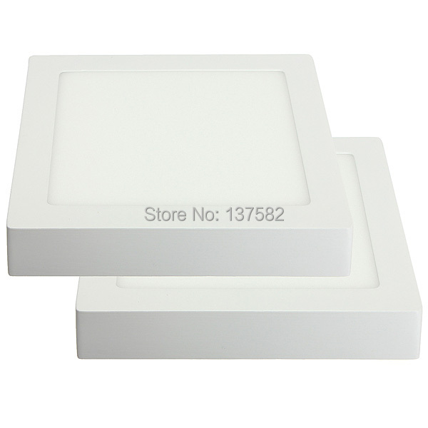 Surface mounted Square LED panel ceiling light 2835 SMD 25W LED Lamp AC85-265V by DHL 10pcs