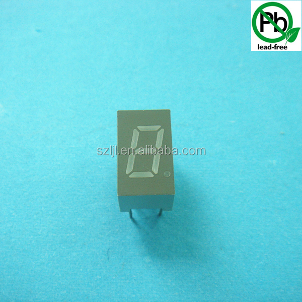 Single digit 7 segments digital number led display board 0.3inch