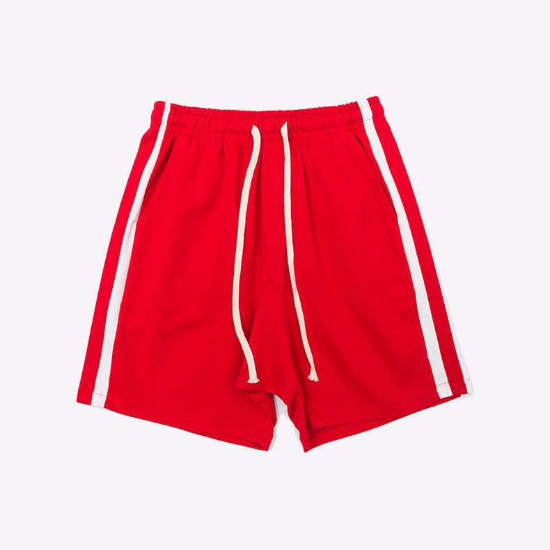 Men's sports cheap 100%polyester dry fit running shorts with side stripe