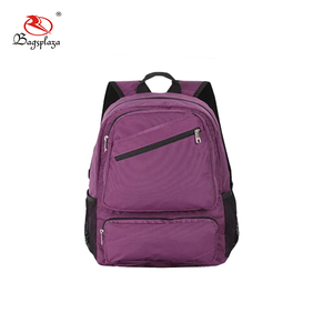 With pen pocket and bottle pocket backpack school bag unisex custom backpack