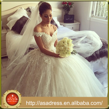 YASA-5089 Sexy see through bridal dress satin Puffy dress wedding Princess Ball Gown Light white wedding dresses 2017