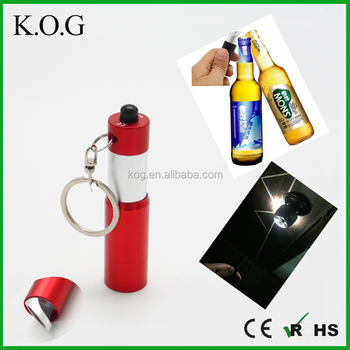 Multi-use Keychain Lights,Telescopic Keychain Flashlight with Bottle Opener
