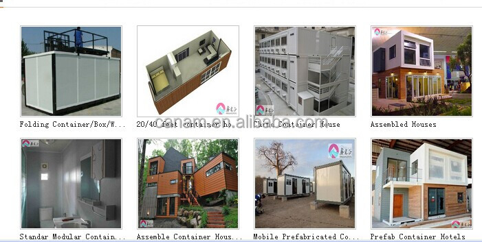 20'ft and 40'ft movable and living prefabricated container house