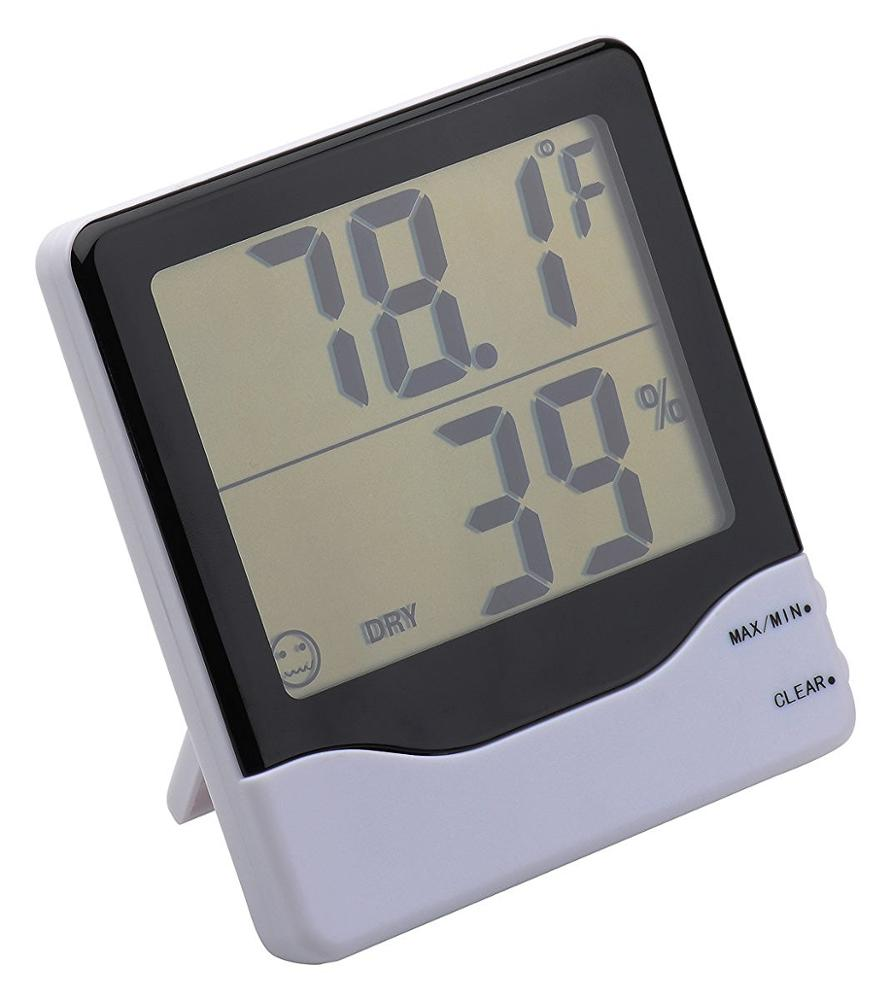 Digital thermometer hygrometer large screen display for room