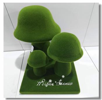 Landscape Ornaments Artificial Grass Flocking Mushroom Moss Foam Mushroom  For Sale - Buy Garden Ornament Bubble Green Mushroom,Artificial Foam