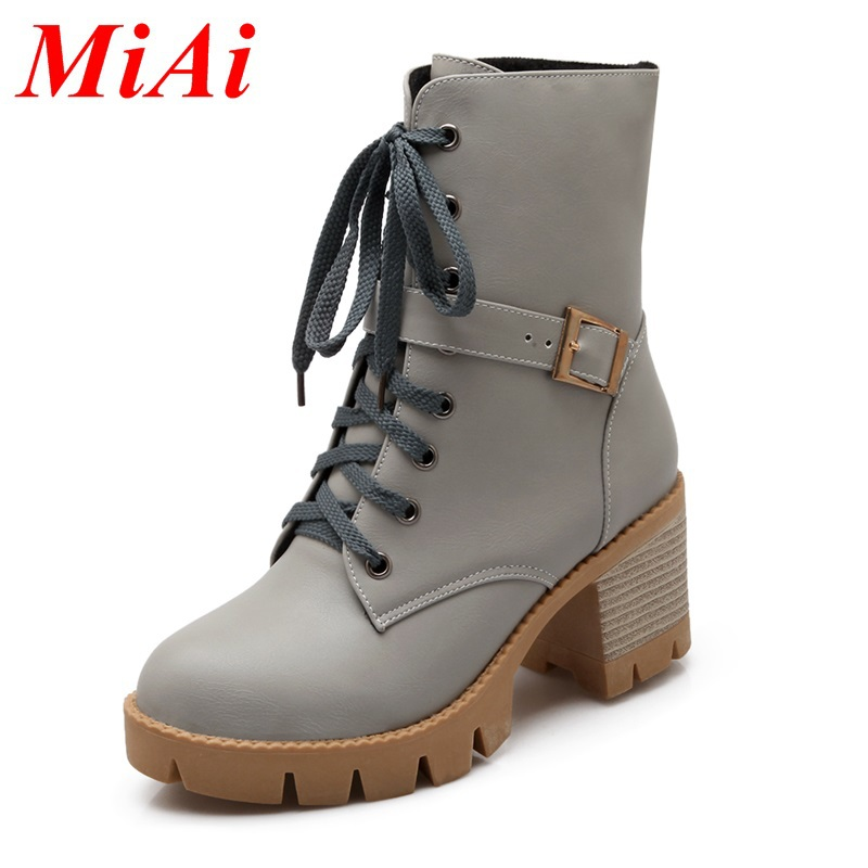 women's ankle boots 2015 new fashion women autumn winter shoes ankle boots high heels platform winter boots black riding boots