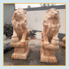 Natural stone carved outdoor durable art work marble lion statue for sale