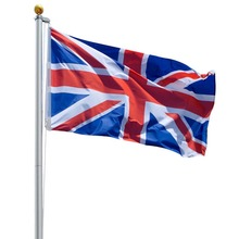 20ft Flagpole Aluminium Flag Pole 5 Sections UK Flag & Gold Ball INCD VAT
