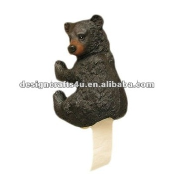 Polyresin Funny Bear Butt Toilet Paper Holder Buy Polyresin Toilet