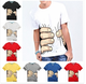 New 2015 men's T shirt creative big hand printed 3D vision cotton t shirt personality top tees