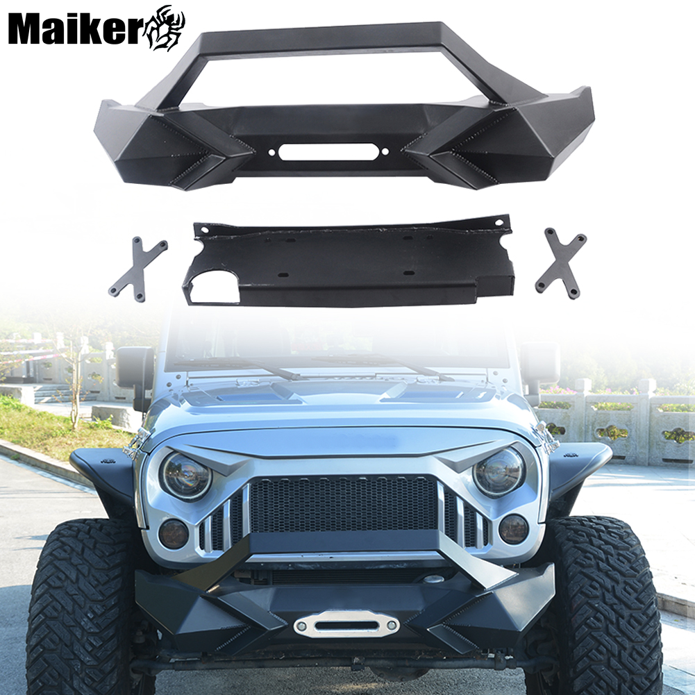 Usa Free Shipping Customized X Style Car Front Bull Bar Bumper Jeep Wrangler Parts Protector For Jk