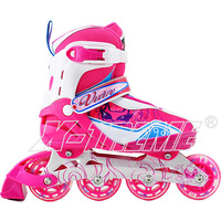 Popular inline speed skates shoes with aluminum chassis and PU wheels for hot sale