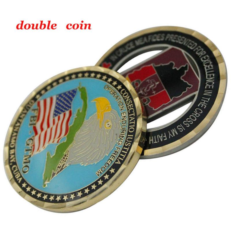 Calidad de la fábrica de Metal de oro 3D conmemorativa desafío moneda para el Recuerdo
