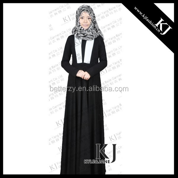 KJ-AM 016 black and white stylish dress turkish kaftan wholesale kaftans
