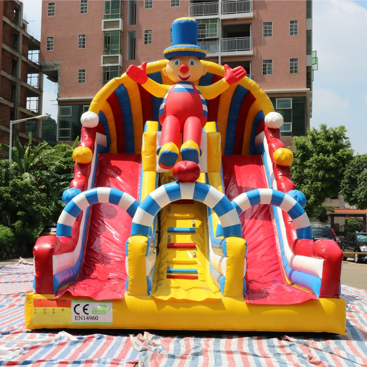 clown inflatable slides