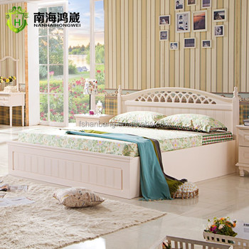 Pinkish And Ivory White Panel Bedroom Set For Kids