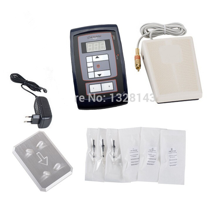 Professional Permanent Makeup Kit High Quality Tattoo Eyebrow Pen LCD Power  Supply Footswitch 30pcs Needles Free Shipping 90bac83cd619f