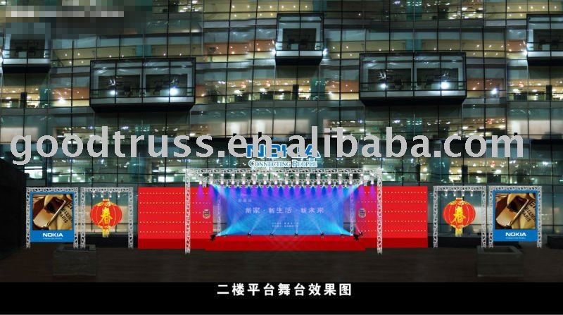 event, activity or promotion equipment outdoor advertising (truss background)