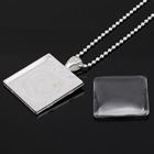 today crafts hotsale square 25mm blank bezel pendant trays cabochons