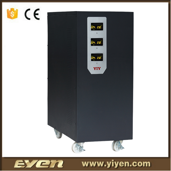 30kva svc motor type automatic voltage stabilizer 3 phase automatic voltage regulator air conditioner voltage regulator