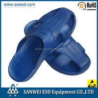 China Supplier ESD Antistatic SPU Safety Slippers/Shoes for Cleanroom