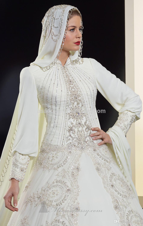 Elegant Dubai Newest Design Long Sleeve Beading Organza