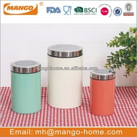 Any color stainless steel metal kitchen coffee canisters