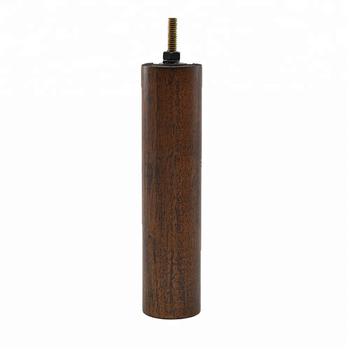 Cylinder Walnut Wood Material Furniture Legs Sofa Leg