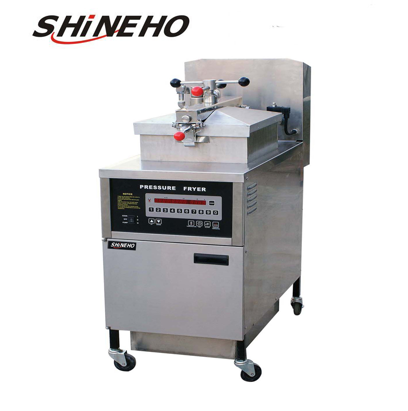 P007 broasted chicken machine/henny penny pressure fryer/kfc chicken frying machine