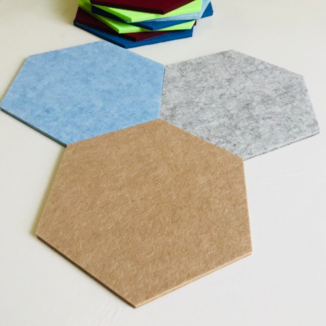 decorative soundproof wall panel Hexagon PET felt 100% polyester acoustic panel