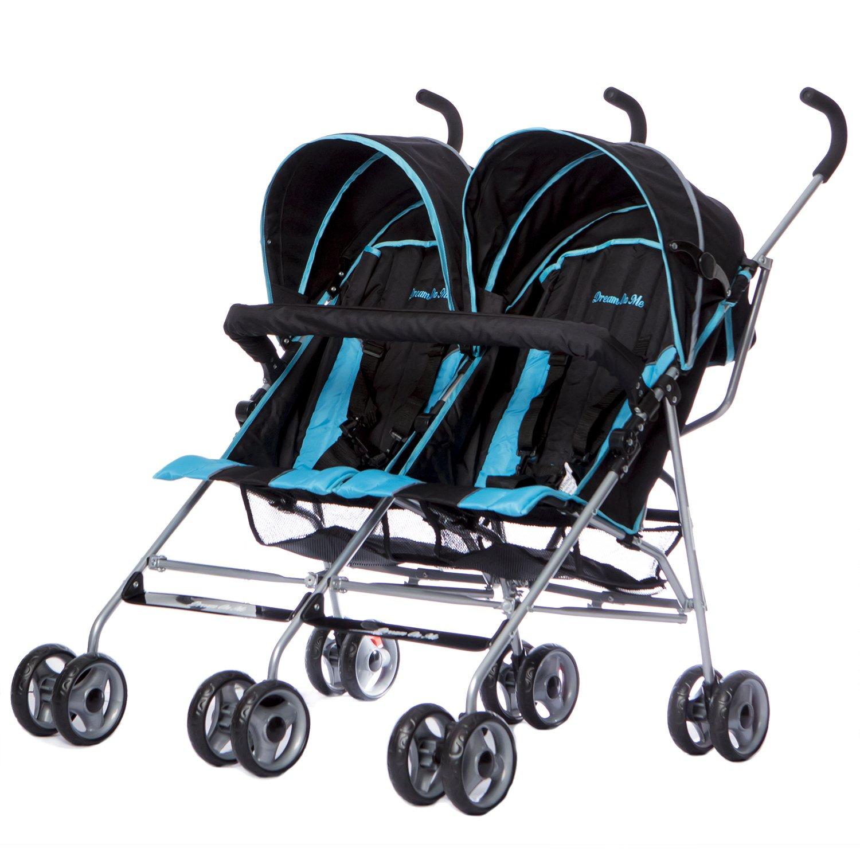 Dream On Me Twin Stroller, Dark Blue