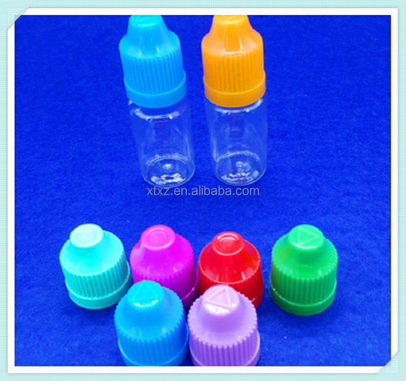 5ml plastic eye dropper bottle with colors cap for e-cigarette oil