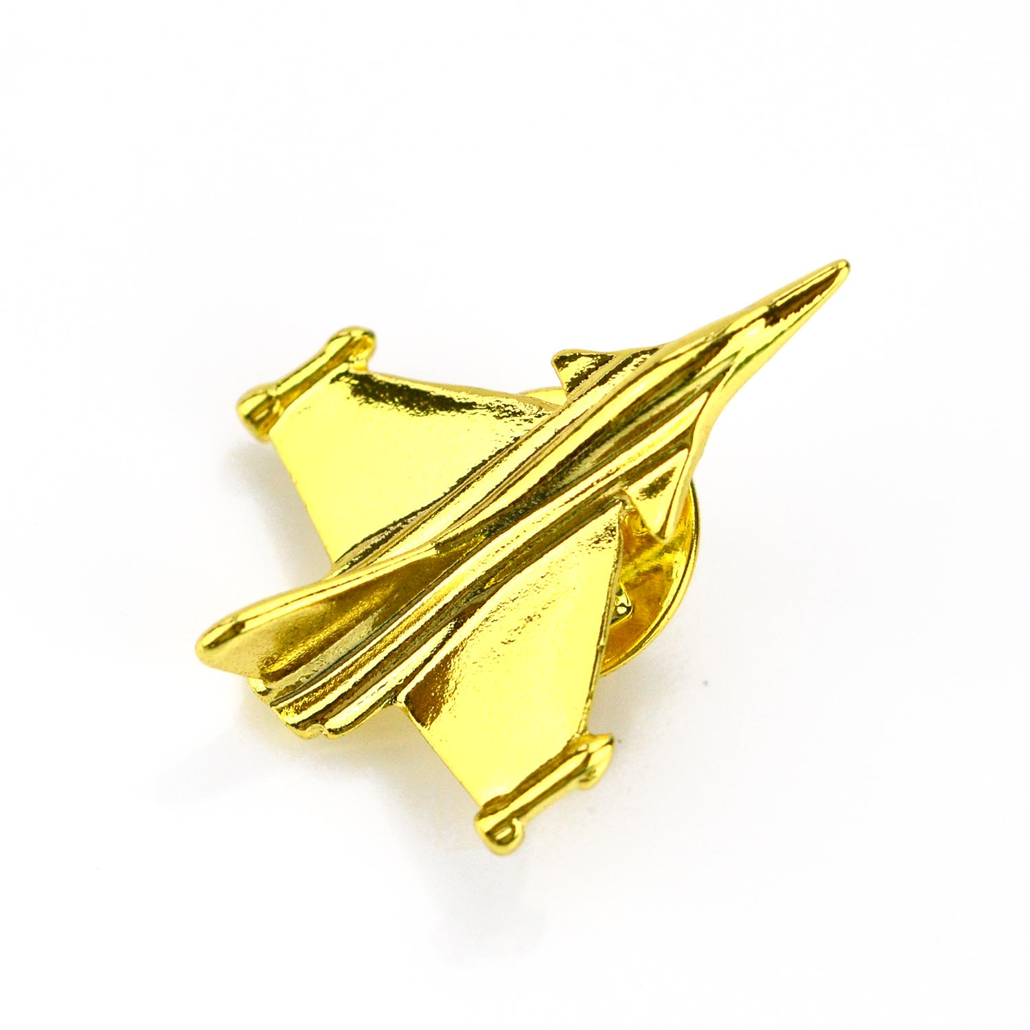 Hot selling wholesale cheap gold metal badge airplane lapel pin
