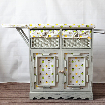 Wooden Ironing Board With Storage Drawers
