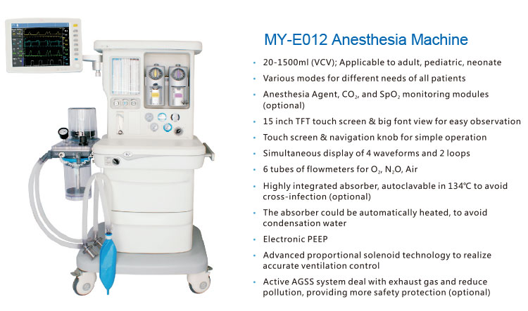 Medical equipments CE/ISO Approved hospital use anesthesia machine price with ventilator