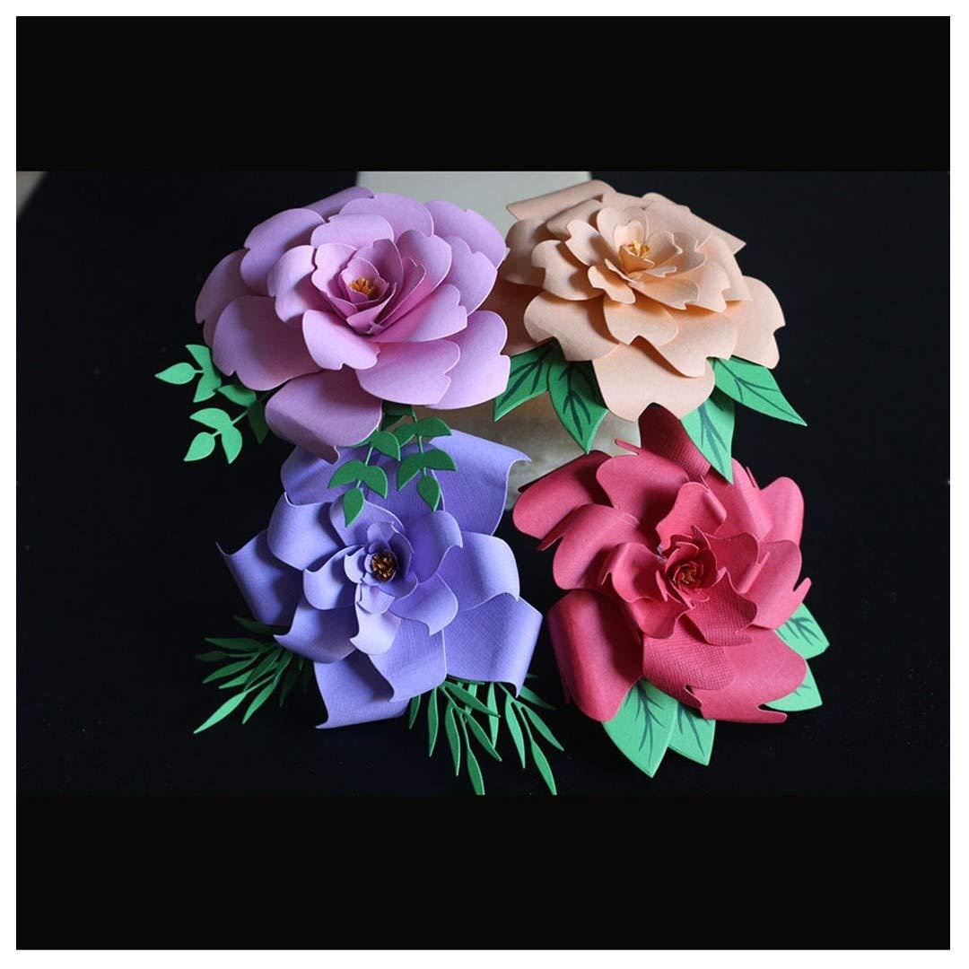 Cutting Dies,Pollyhb New Metal Cutting Dies Stencils Scrapbooking Embossing DIY Crafts,Gentleman Ladies Rectangle Heart Flower,for Card Making Scrapbooking (F:14.5x11.6CM)