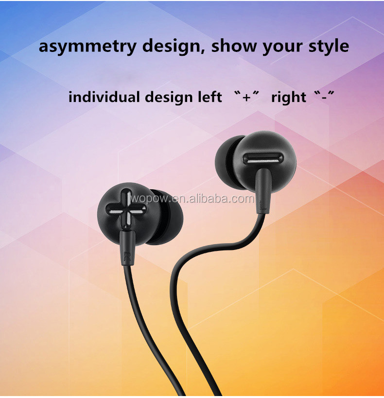 WOPOW AU03 metal hifi disposable headphones hifi in-ear earphones colorful mobile ear phone