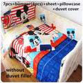 Promotion 4 5 9PCS Mickey Mouse Baby Crib Bedding Sets Crib Cot Cradle Bedlinen 120 60