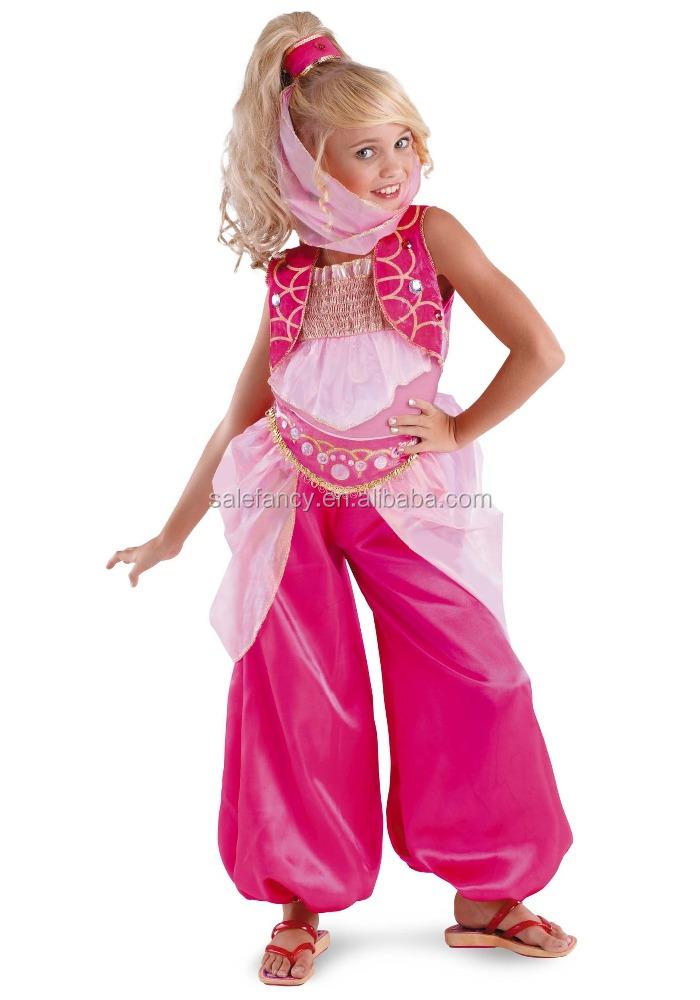 New Barbie Girls Genie Costume Kids Halloween Cosplay Costume Qbc